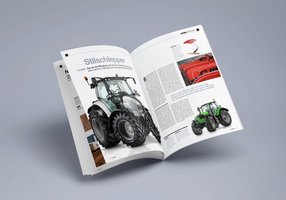 H.O.M.E. Doppelseite Traktoren