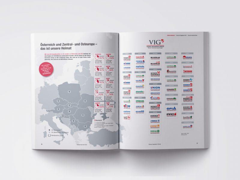 VIG Geschäftsbericht 2015 Karte