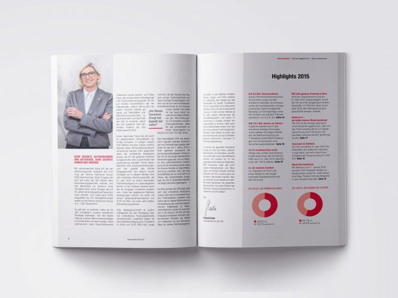 VIG Geschäftsbericht 2015 Vorstandsvorwort
