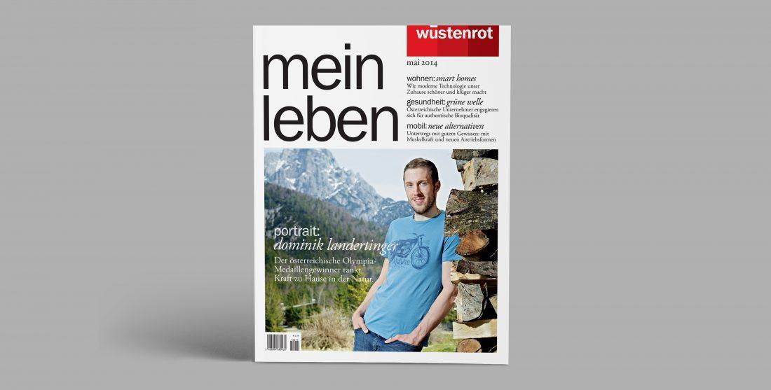 """Wüstenrot Kundenmagazin """"mein leben"""" Cover"""