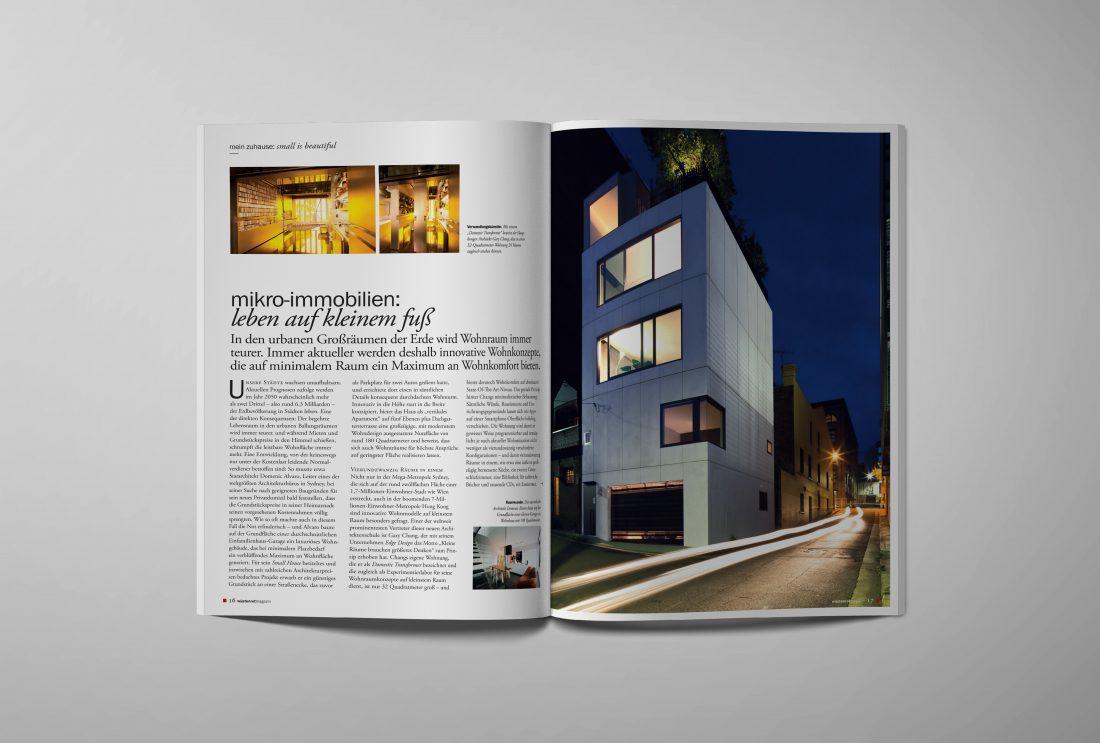 """Wüstenrot Kundenmagazin """"mein leben"""" Immobilien"""