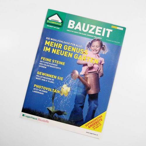 Lagerhaus Kundenmagazin BAUZEIT
