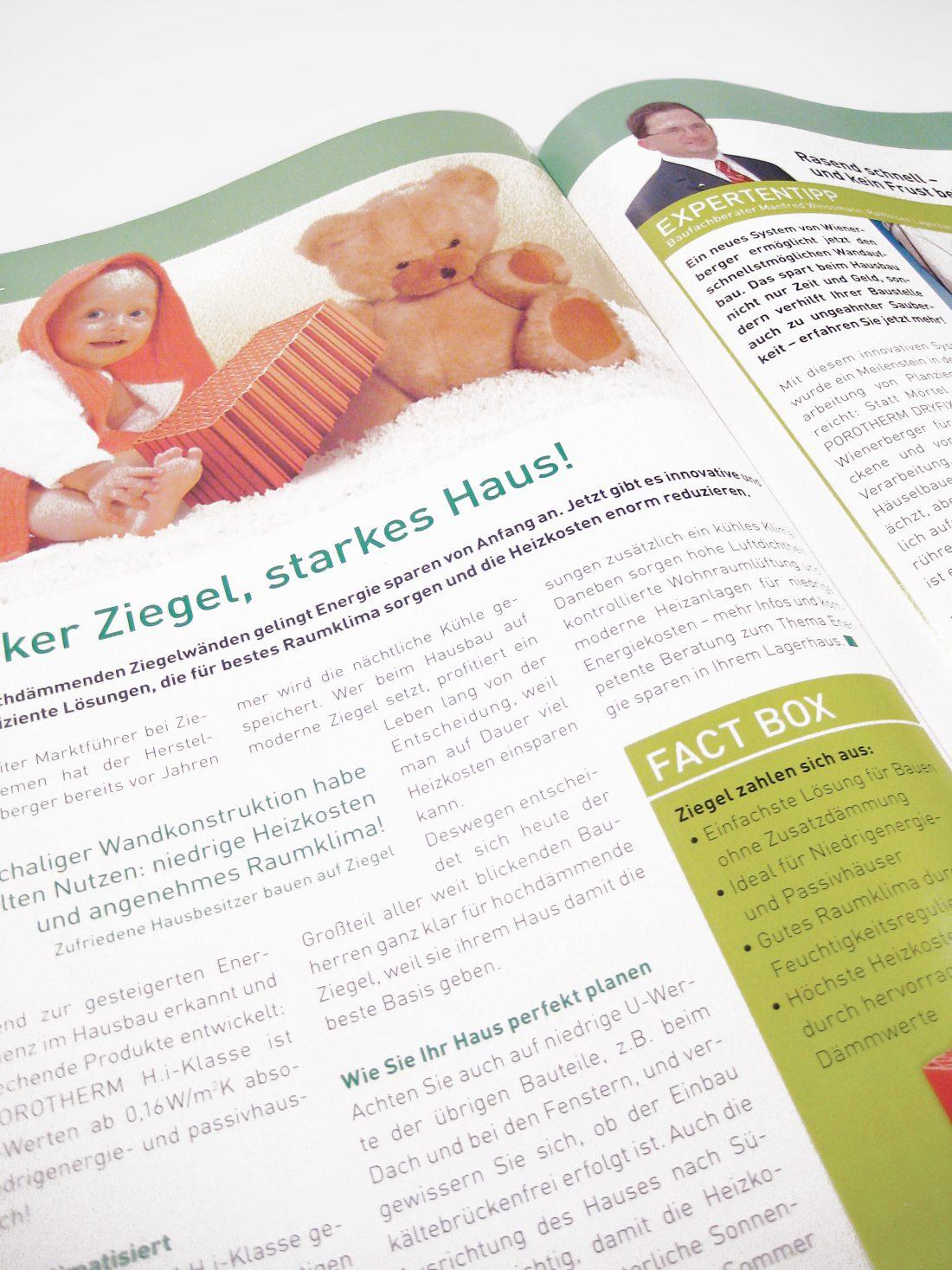 Lagerhaus Kundenmagazin BAUZEIT Detail