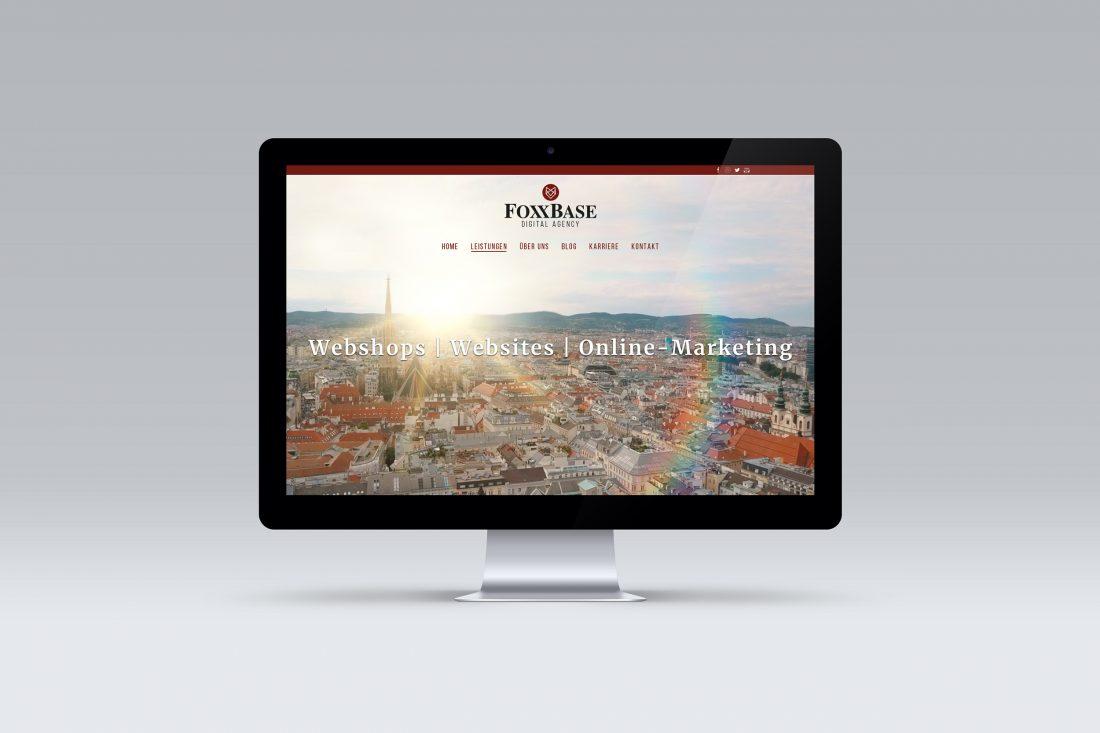 FoxxBase Screendesign Startseite