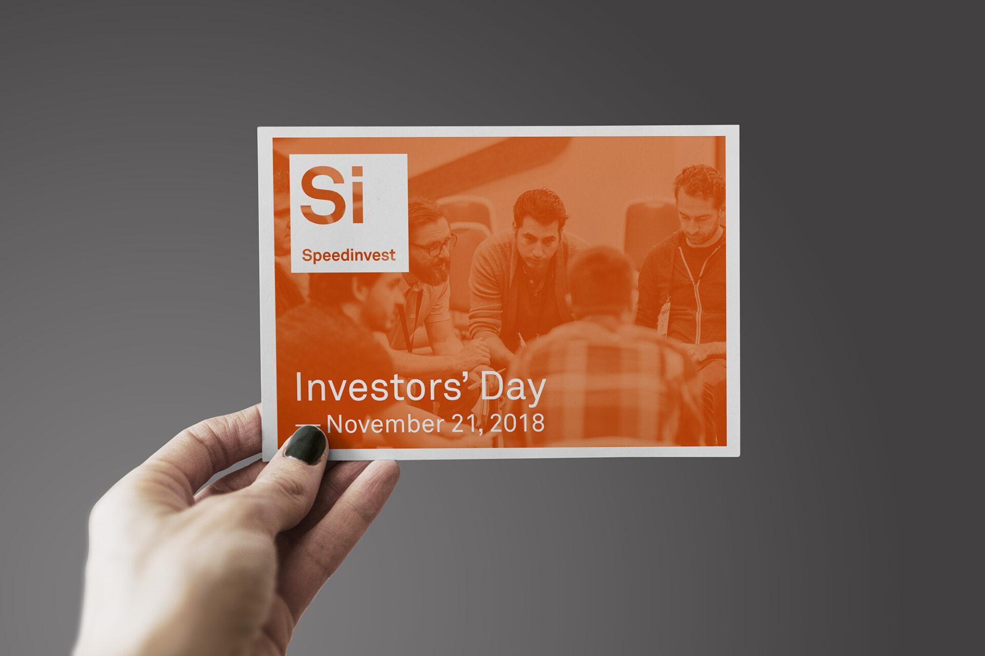 Speedinvest Investorsday 2018 Programm Cover